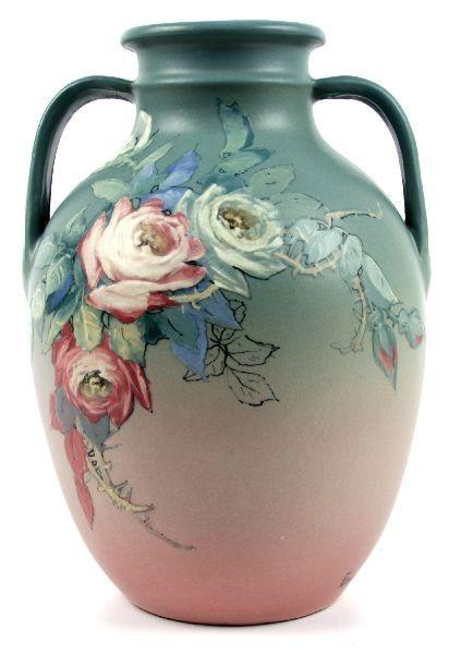 Large Hudson Weller Pottery Vase Hester Pillsbury On Ceramics