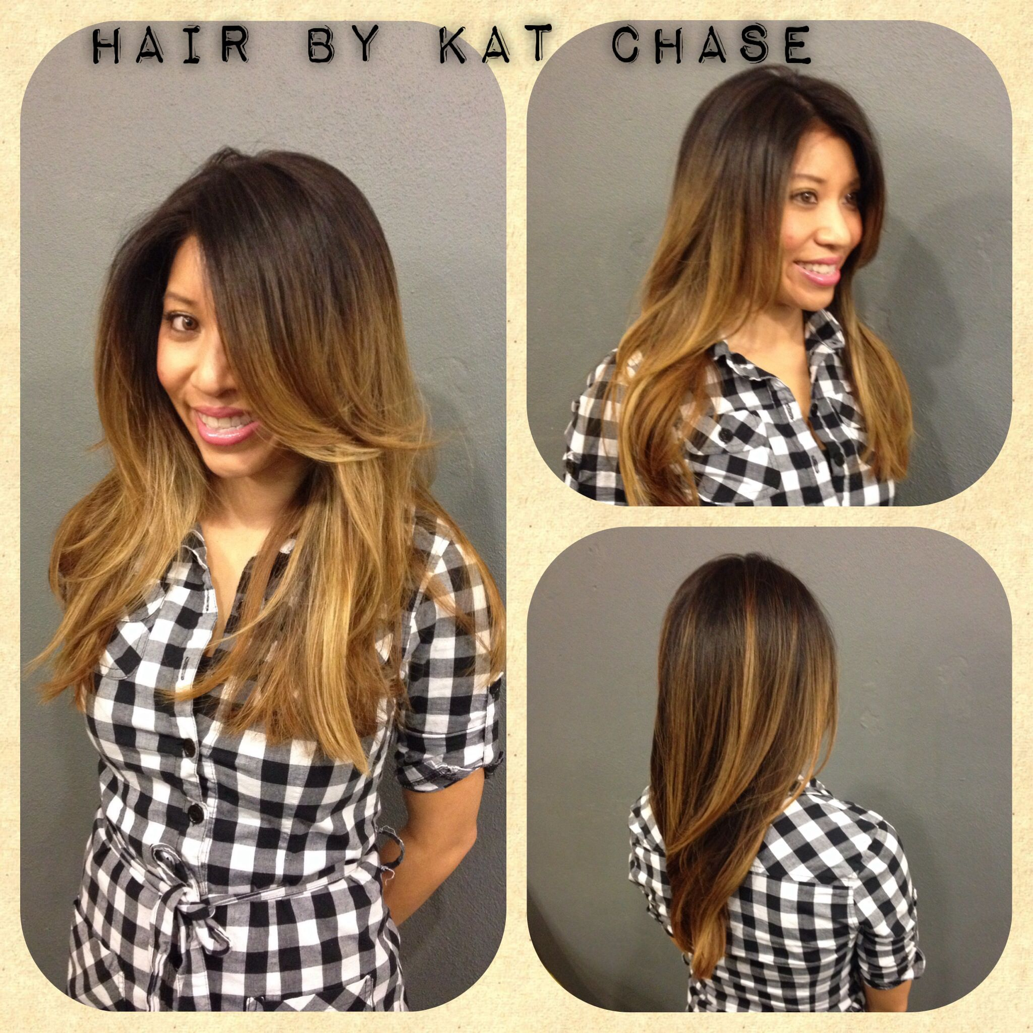 Brunette To Blonde Ombr Hair Hair By Kat Chase In Orlando Fl At