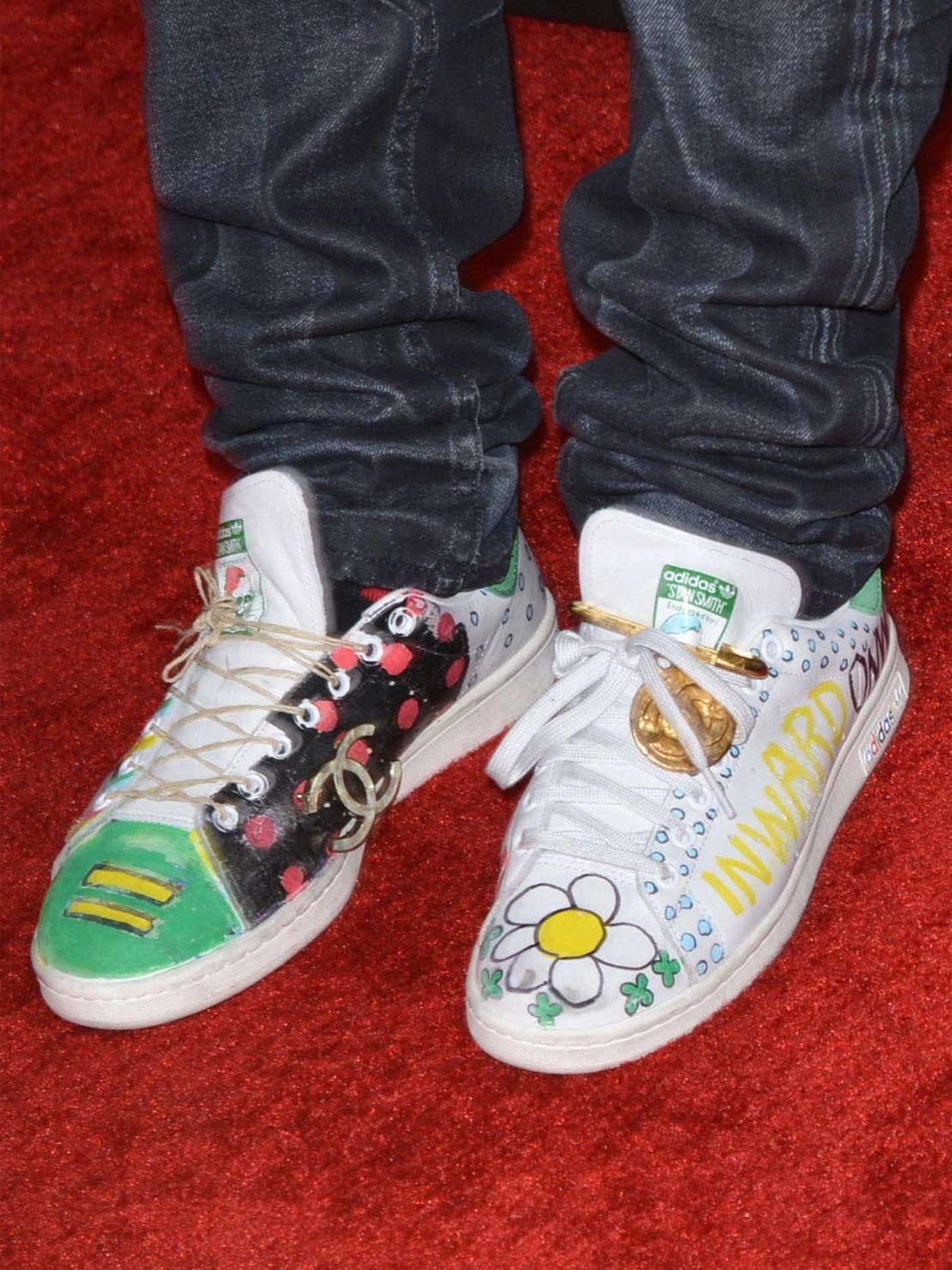 Limited edition Stan Smith shoes customised by Pharrell