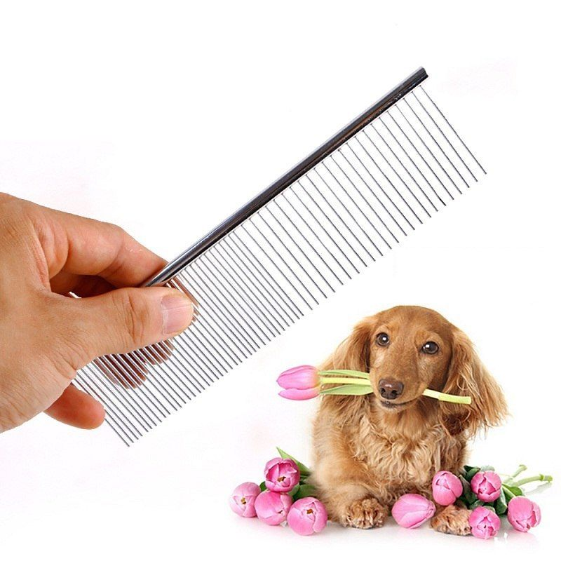 Canine Grooming Instruments Canine Brushes Pin Brush Stainless Metal Canine Comb Excessive High Quality Pet Merchandise S M L Measurement