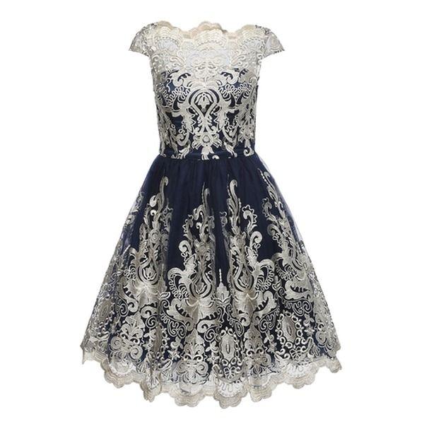 Chi Chi London Kleid Mit Tull Chi Chi Yazzy Blau Gold Chichilondon Aboutyou Kleidung Entwerfen Modestil Kleider