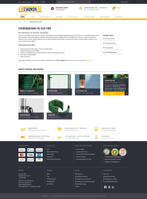 0aa2e873601948 Leichtbauzaun Fix-Clip Pro online kaufen bei ZAUN24. Schauen Sie doch mal  rein!