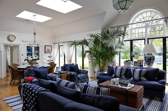 New England Style Living Room Ideas | Best Interior & Furniture