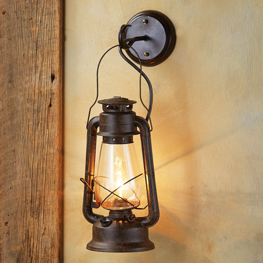 Large Rustic Lantern Wall Sconce up in the kids loft- add 5. 4 at ...