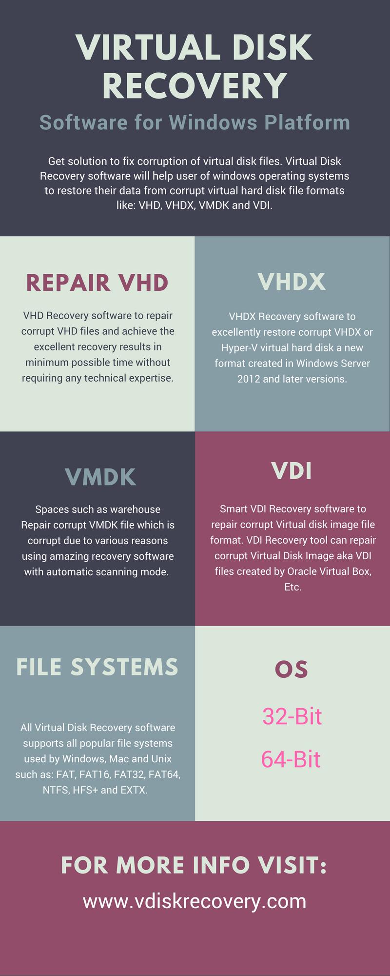 Virtual Disk Recovery Software: VHD, VHDX, VMDK and VDI