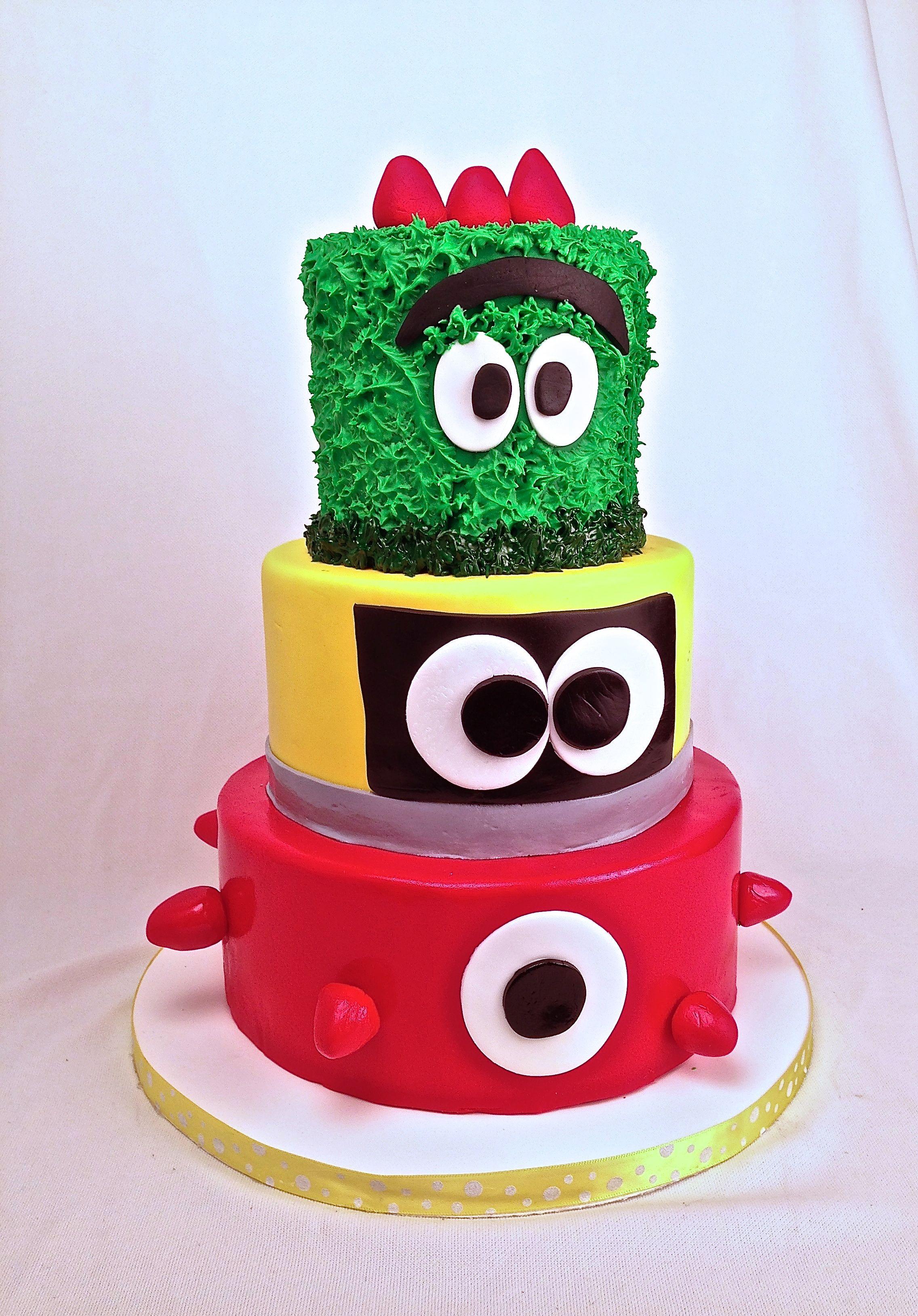 Yo Gabba Gabba Birthday cake Kids Birthday Cartoon Yo Gabba Gabba