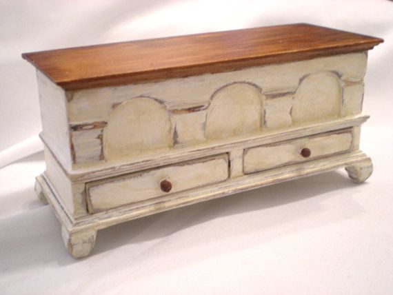 miniature shabby chic hope chest distressed detailed 2 drawer top rh pinterest com