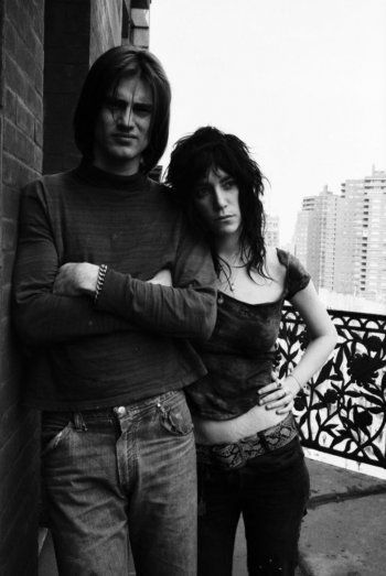 Sam Shepard and Patti Smith by David Gahr at The Chelsea Hotel, NYC, 1971