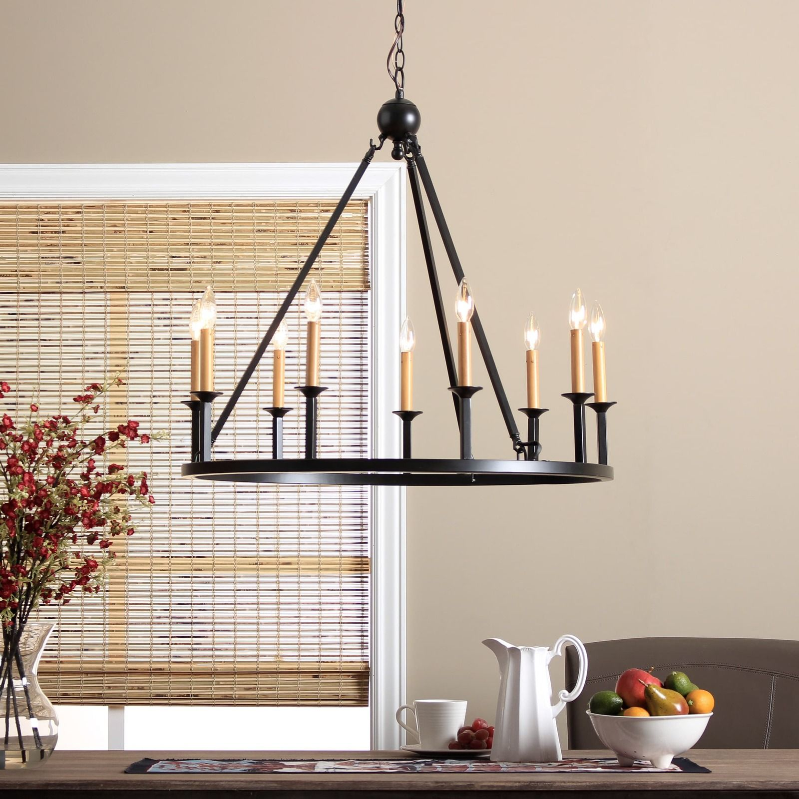 World Of Architecture 16 Simple Elegant And Affordable: 9 Light Rustic Chandelier Ceiling Lighting Candle Round