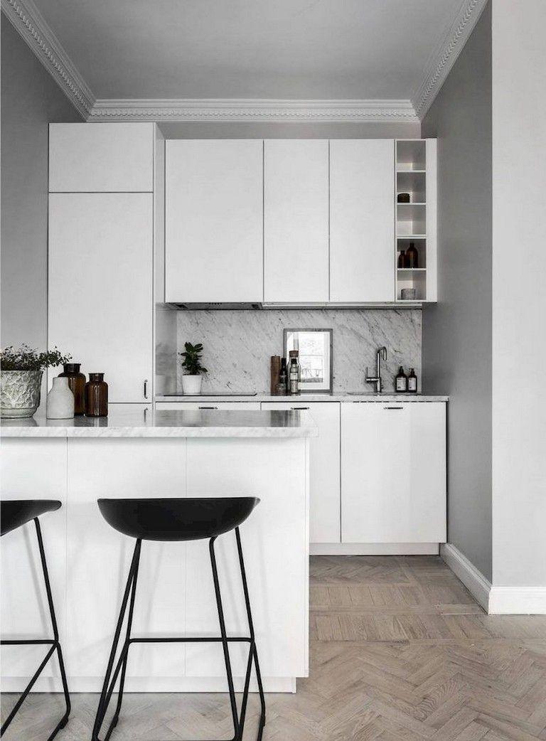 45+ Top Small Apartment Kitchen Decor Ideas #smallkitchendecor