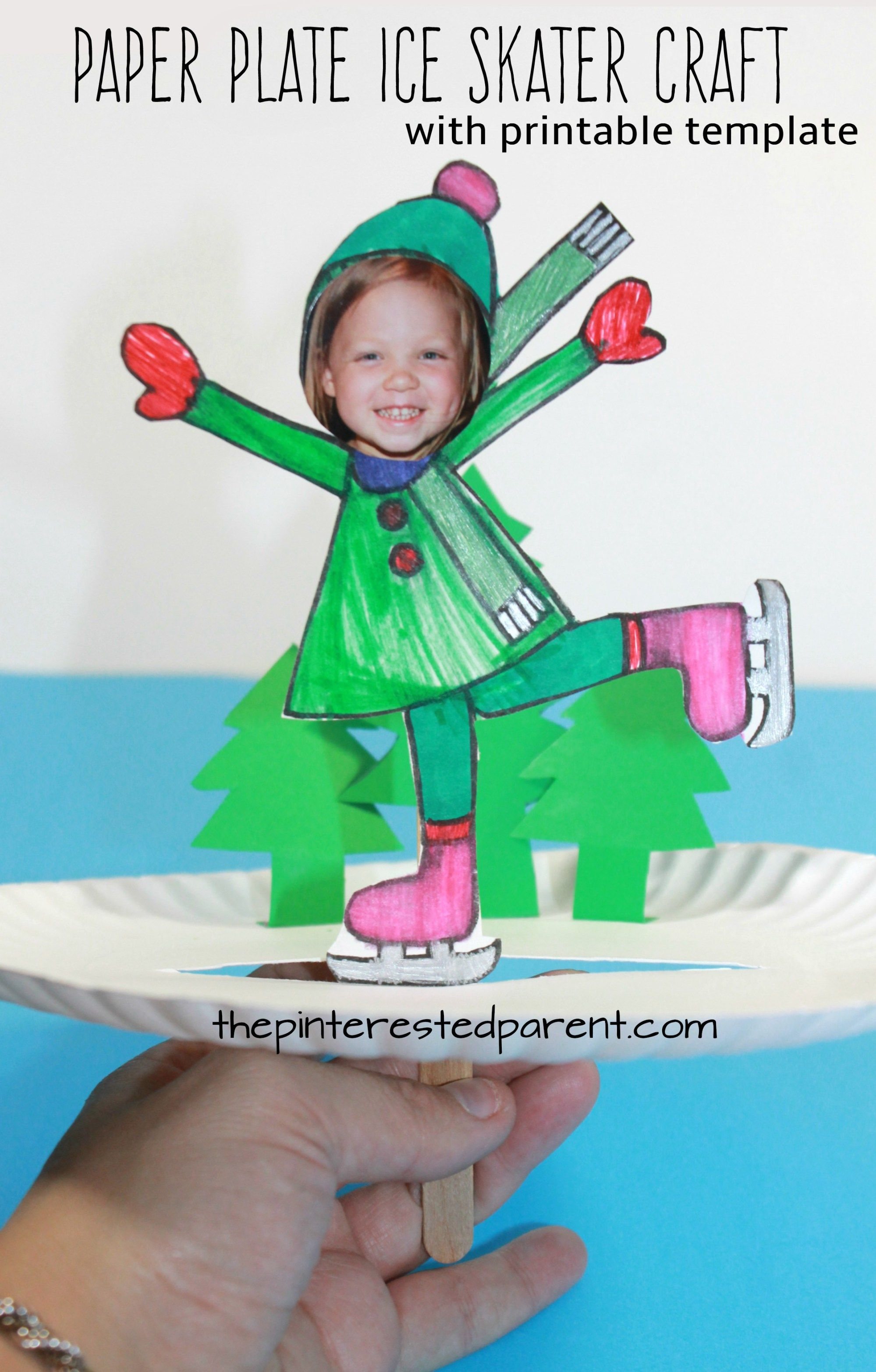 Paper Plate Ice Skate Craft – The Pinterested Parent | Winter crafts for  kids, Christmas arts and crafts, Winter sports crafts