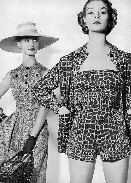 Evelyn & Jean photo Erwin Blumenfeld 1954  
