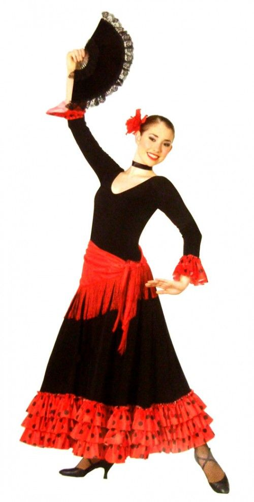 7174e4a9df40 costumes+women+mexican | This is a women's black red halloween mexican  spanish floral night .