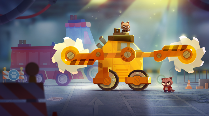 C.A.T.S. Crash Arena Turbo Stars a mobile game by