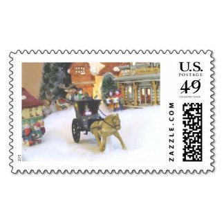 """""""OLD FASHIONED CHRISTMAS VILLAGE"""" POSTAGE"""