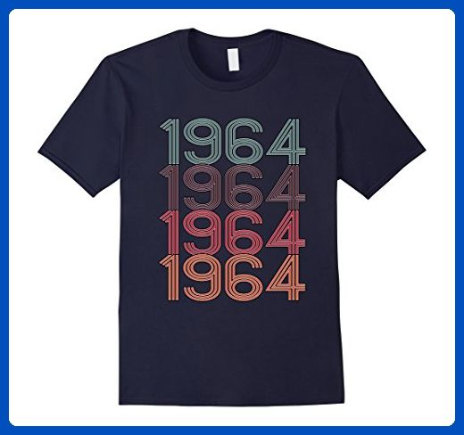 Mens 1964 53 Years old Birthday T-Shirt XL Navy - Birthday shirts (*Amazon Partner-Link)