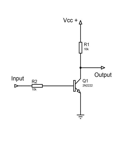 not gate using cmos circuit