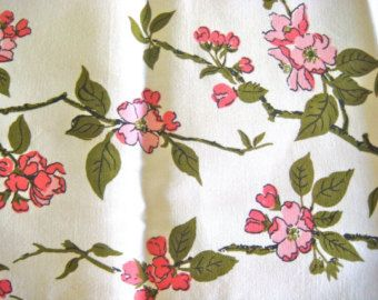 Wilendur Apple Blossom -  Vintage Cotton Fabric