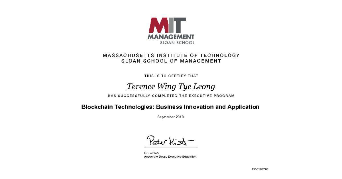 Certificate Of Completion Certificate Of Completion Executive Education Deep Learning