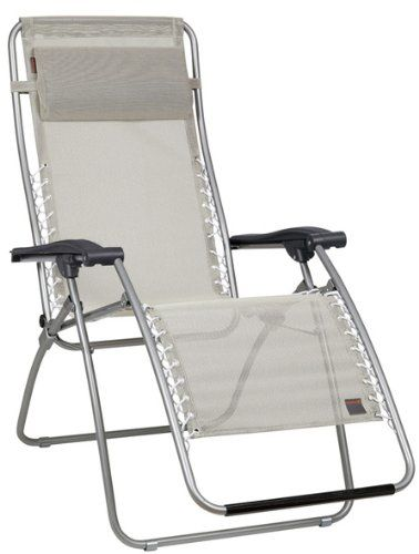 Lafuma Relax-Liegestuhl, klappbar und verstellbar, RSXA, Seigle (Grau), LFM1226-3466 Lightning Source