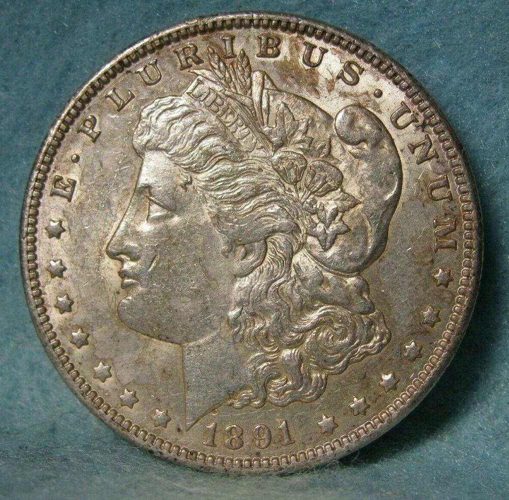 1891 Cc Carson City Mint Morgan Silver Dollar Choice Xf Au United States Coin Morgan Silver Dollar Silver Dollar Carson City