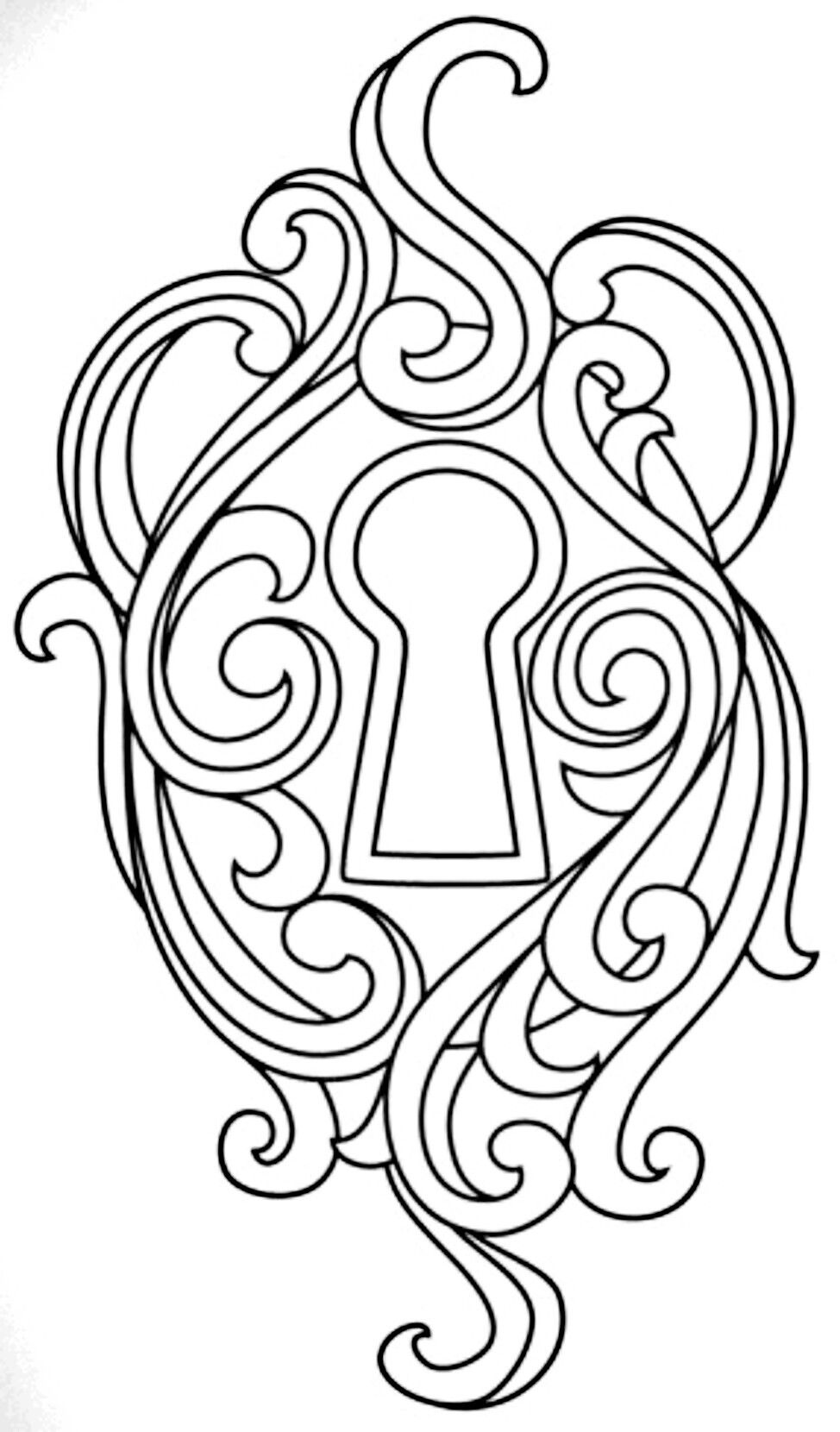 Key Lock Coloring Pages Embroidery Designs Embroidery