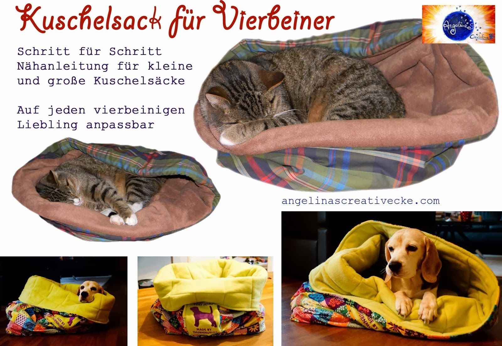 Kuschelsack für Vierbeiner   Nähen für Hunde und Katzen   Pinterest ...
