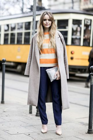 50 ways to make your outfit look even chicer with a striped t-shirt: