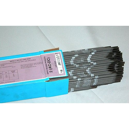 Amtec 2 Pop2414 Premium High Strength Cast Iron Ac Dc Reverse Electrode 1 8 1 Lb Box Welding Rods Welding Rods Steel Fabrication Welding