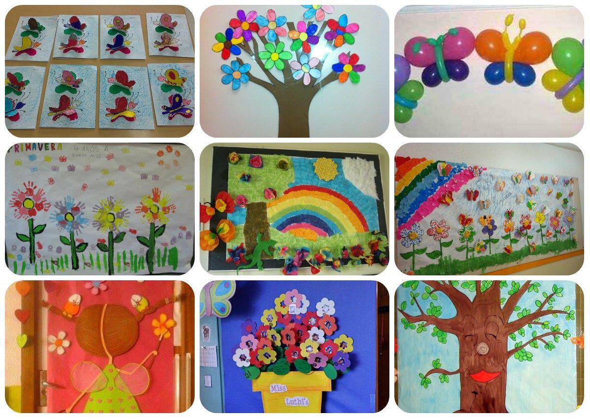Relacionado carancos pinterest primavera el aula y aula for Decoracion primavera manualidades