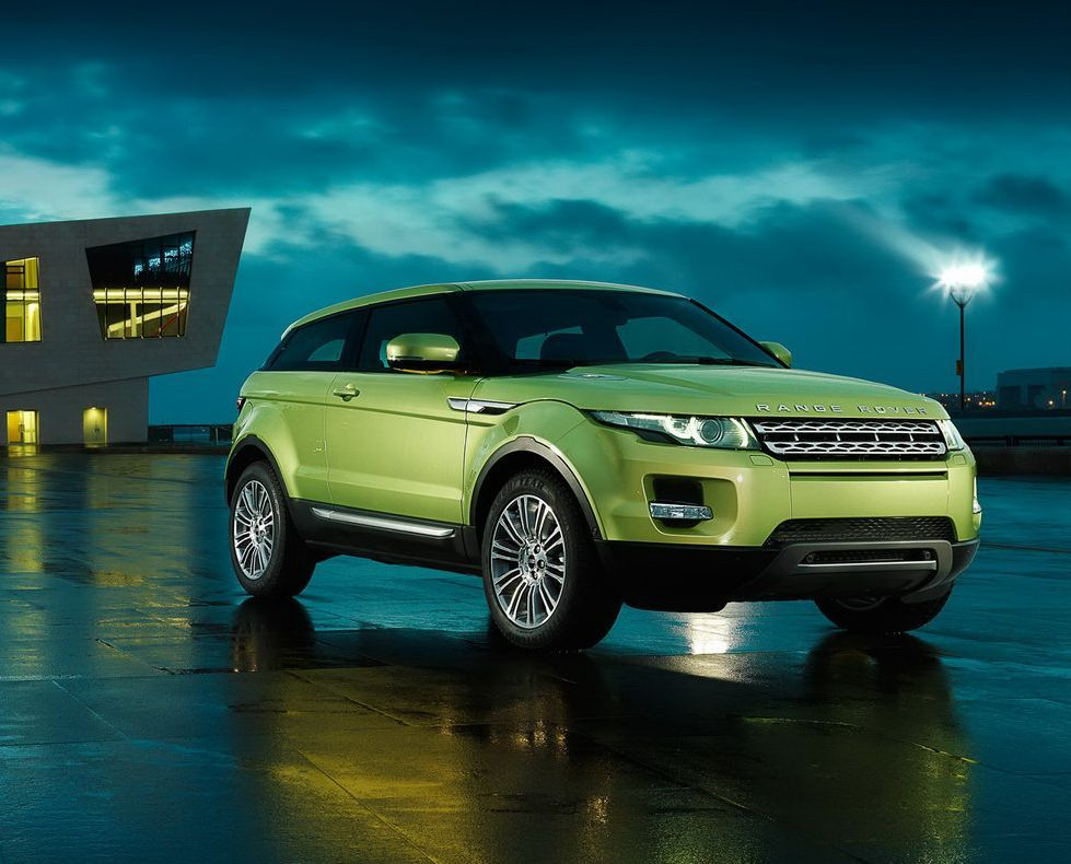 This is how my two past two cars would be merged: The sports coupe lime green Mercedes Benz meets silver Range Rover HSE. But, for some reason the Evoque does not look like a Range Rover to me.... lower price, food for thought! - 2015 Range Rover Evoque Hybrid, Lime Green