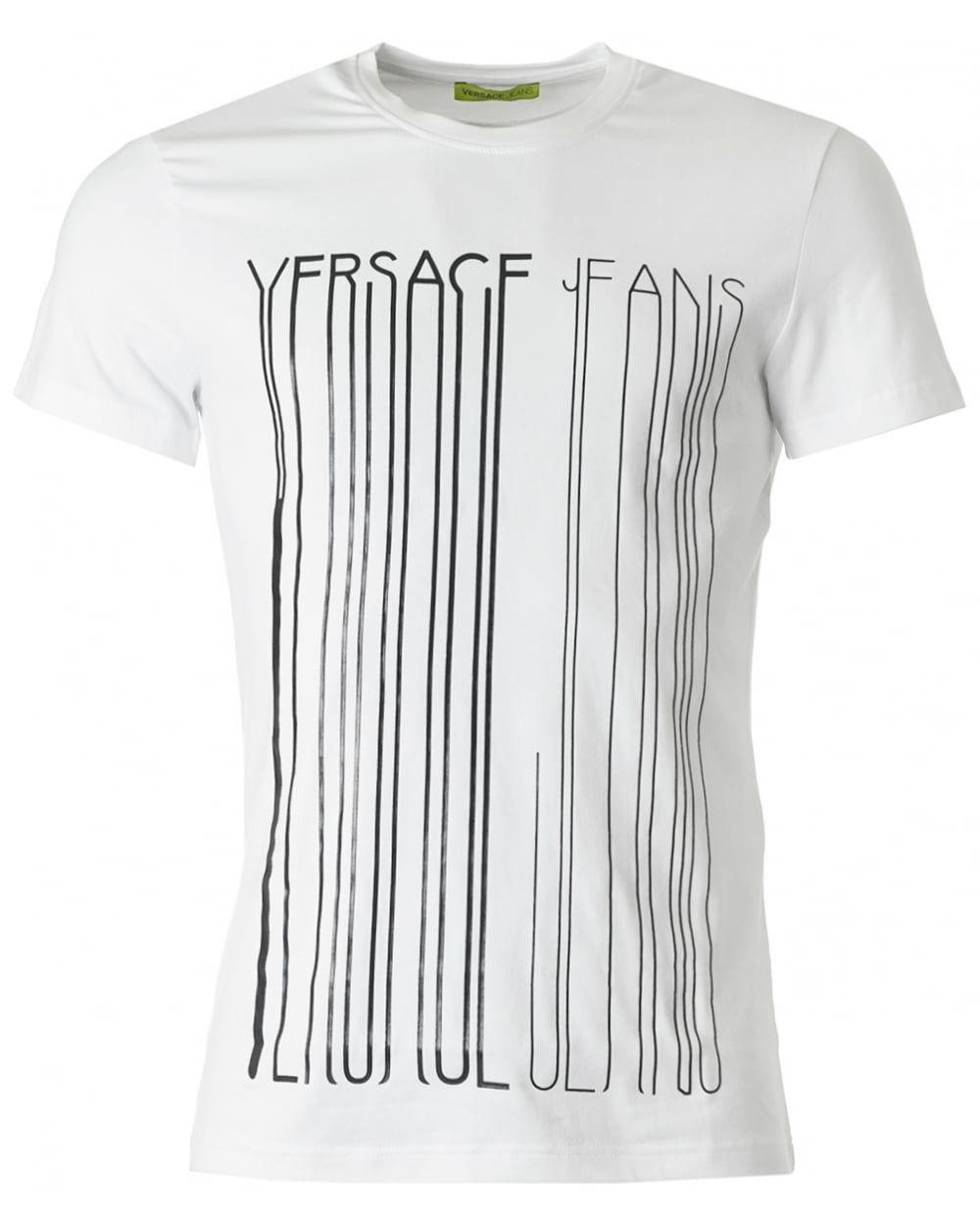 a8a5347a6 Versace Jeans Crew Neck Foil Logo T Shirt Black | Mainline .