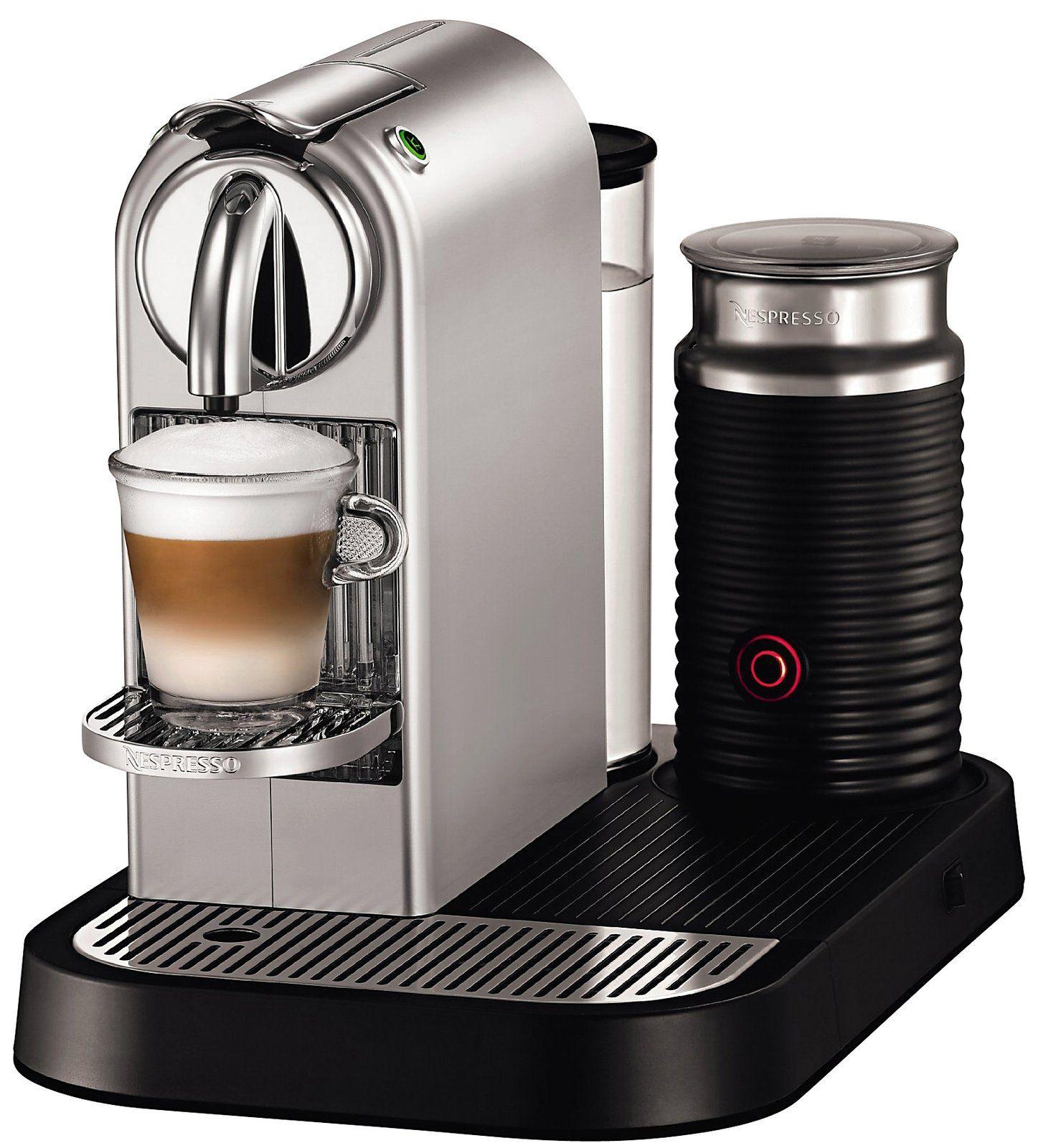 Nespresso CitiZ D120 Espresso Maker w/ Aerrocino Milk