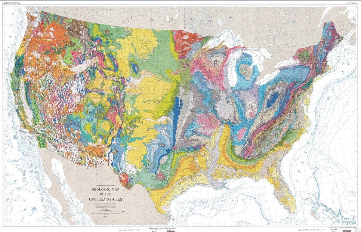 The Geologic Map Of The United States With Images