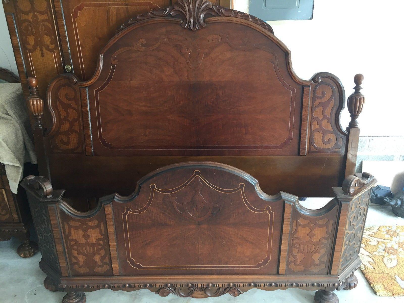 1920 S Antique 9 Pc Bedroom Set Picclick Com Bedroom Set Antiques Pineapple Bedding