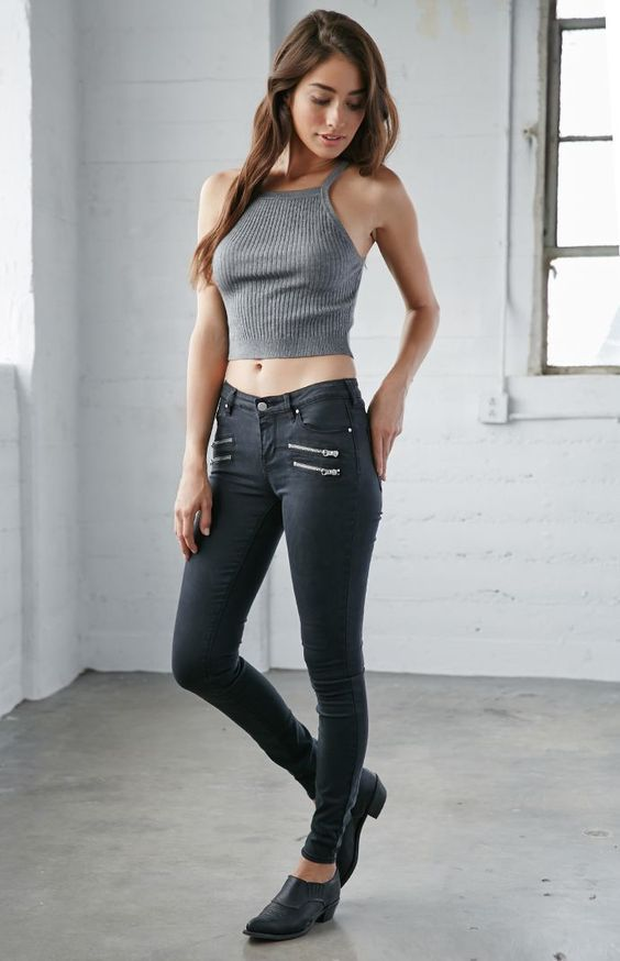 Mid rise skinny jeans pacsun