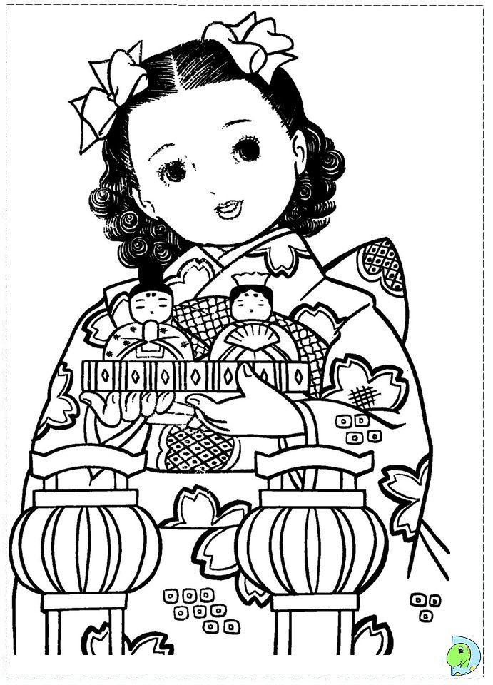 japan girls day images wwwdinokids Coloring Pages