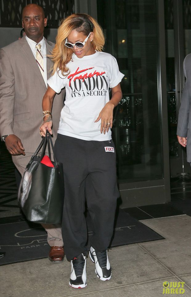 eac8b8716318 Rihanna wearing Jordan XIII- He Got Game