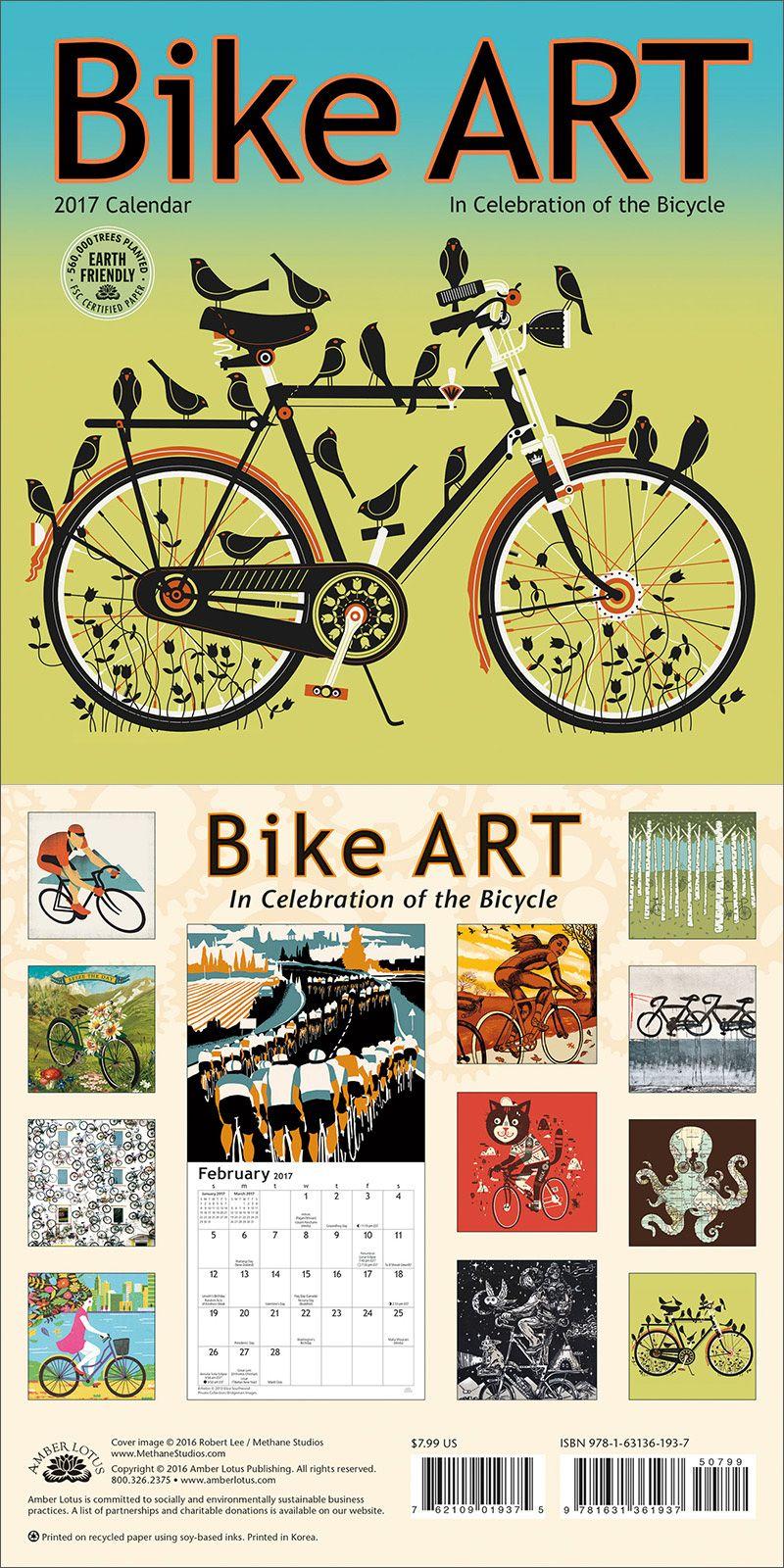 Bike Art 2017 Mini Wall Calendar: In Celebration of the Bicycle ...