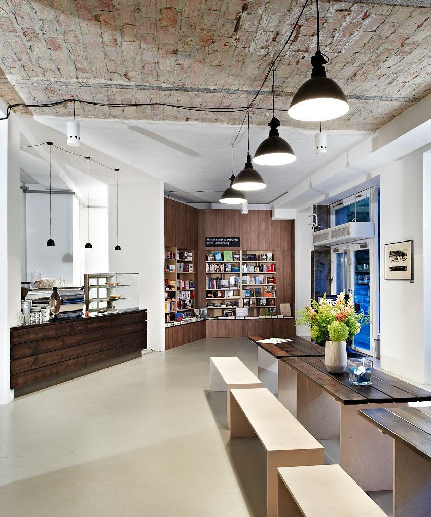 Ocelot Bookstore Brunnenstrasse 181 Berlin Cafe Einrichtungen Innenarchitektur Und Inneneinrichtung
