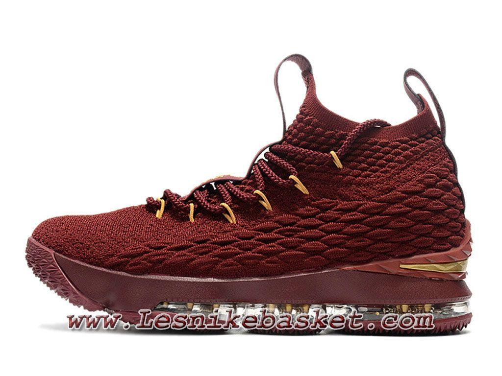 5ccc11bef4849 Nike Wmns LeBron 15 Deep Rouge F897648 ID2 Chaussure Officiel Nike Lebron  Pour Femme Enfant