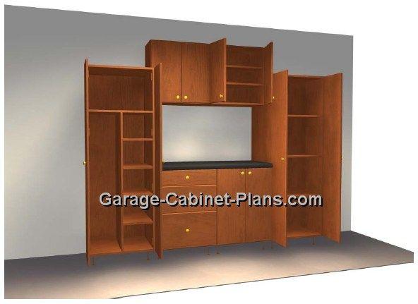 Marvelous 8 Ft Plywood Garage Cabinet Plans