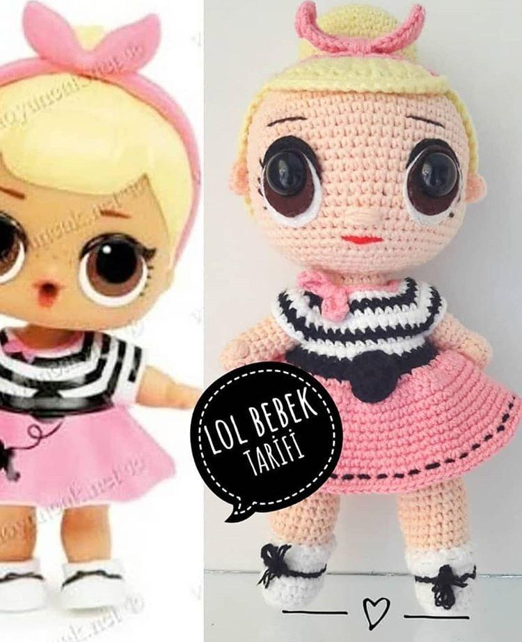 Amigurumi Lola bebek   Amigurumi oyuncak bebek, Örme bebekler, Kroşe   921x750
