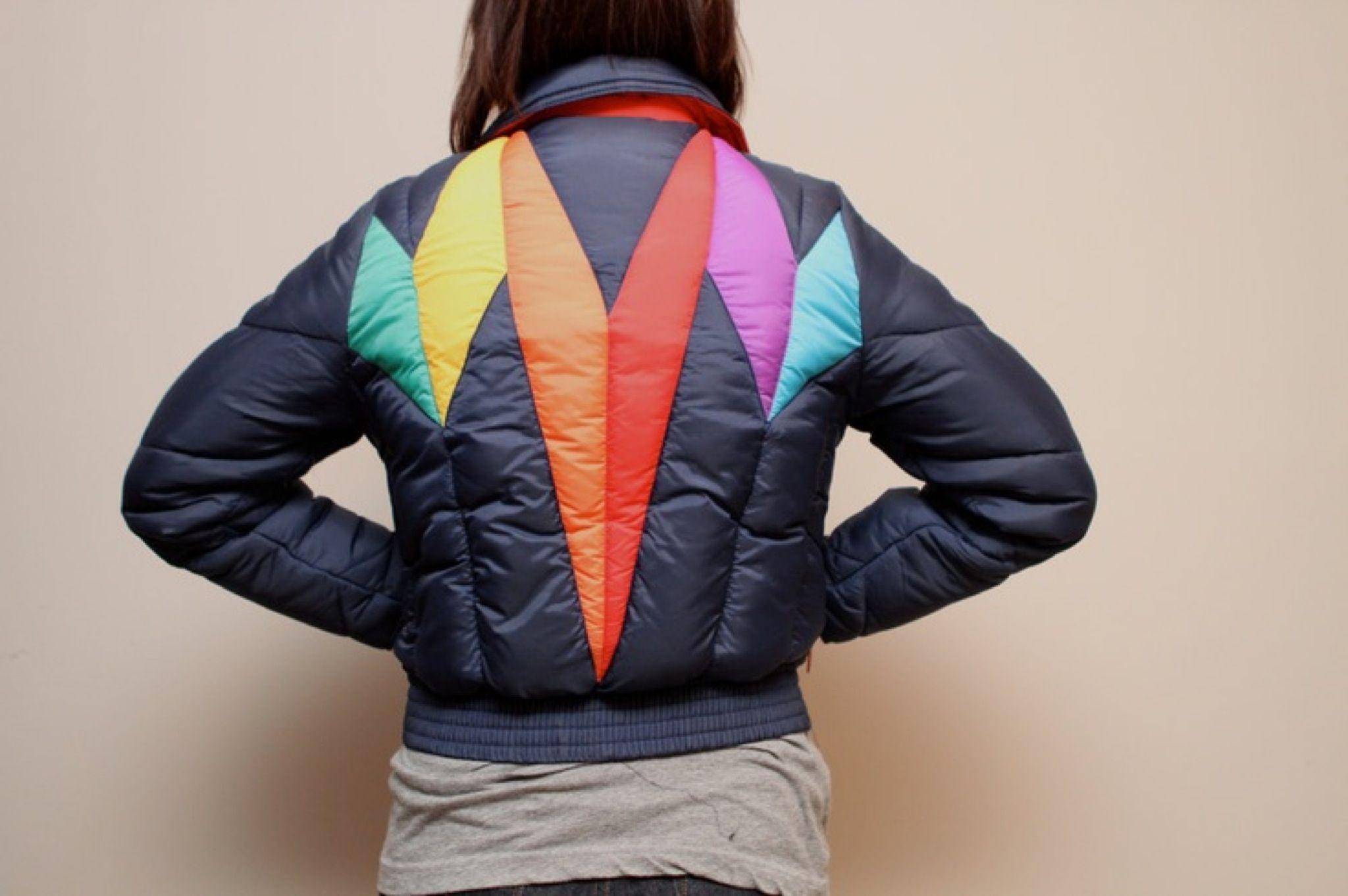 1980s Ski Vest Size Small-Medium Puffer Vest Geometric Pattern Aspen Ski Vest Vintage Women/'s Ski Vest