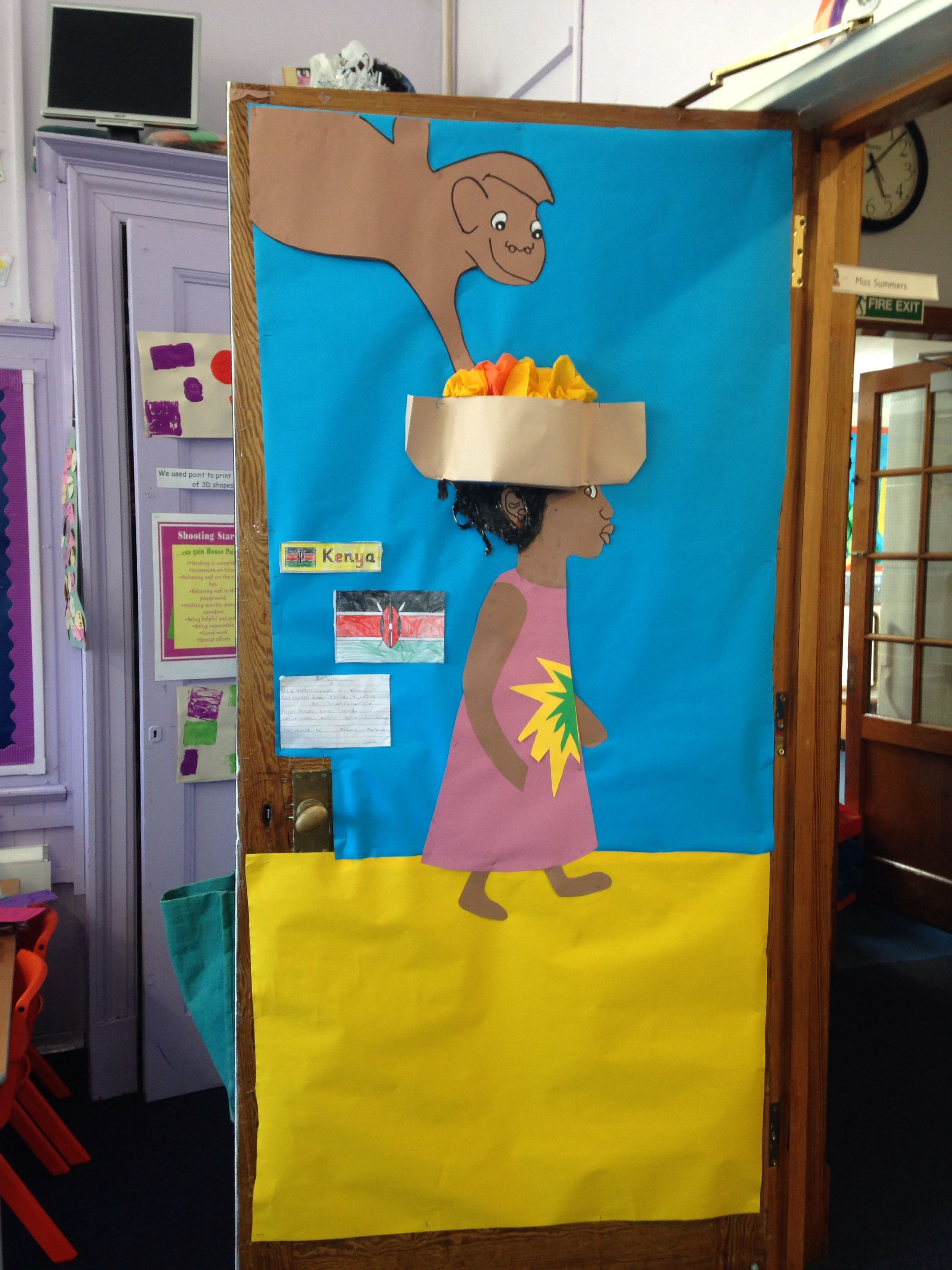 Literacy Classroom Decor ~ Handas surprise door kenya world book