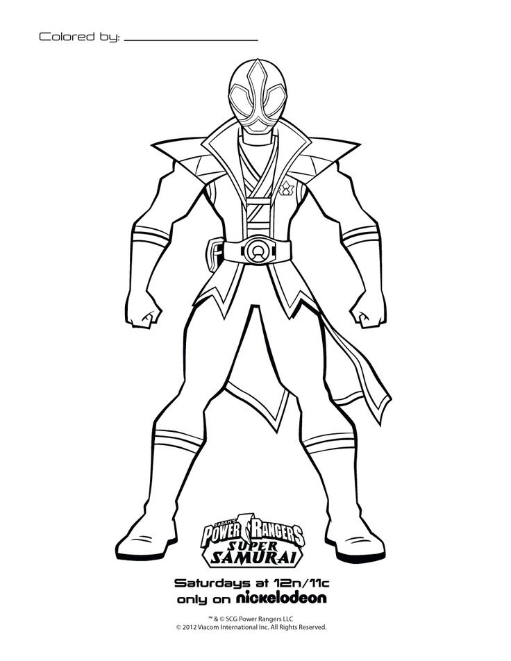 Coloring Pages Power Rangers Samurai