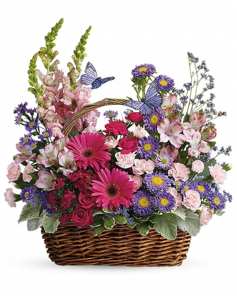 Country basket blooms basket arrangement beautiful flowers for country basket blooms izmirmasajfo