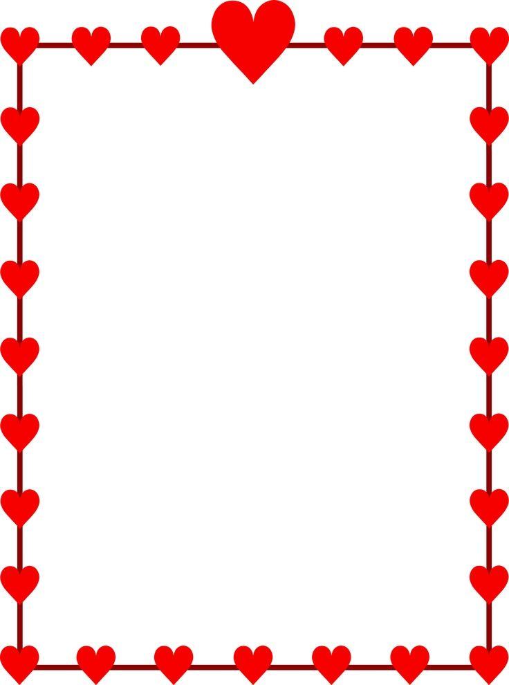 Valentines Day Clip Art Borders | Grace | Pinterest | Clip art, Clip ...