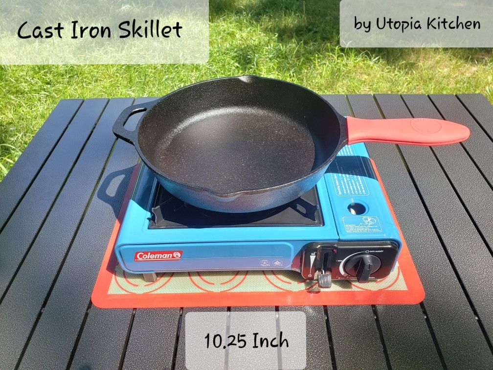 Cast Iron Skillet By Utopia Kitchen 10 25 Inches Prius Camping