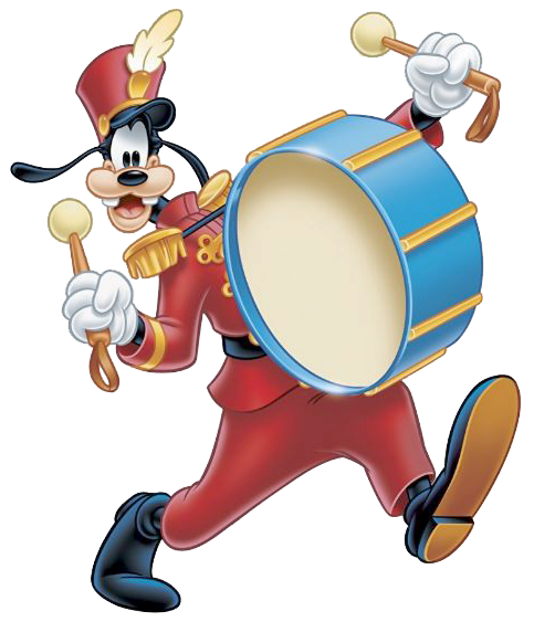 Goofydrum Png 483 563 Disney Clipart Goofy Marching Band